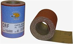 Aluminium oxide resin paper, latex backing, D/C-wt, close coat. - Multi-purpose paper roll, extremely flexible, for painting and wood finishing.