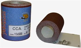 Aluminium oxide glue paper, A-D-wt, open coat. - Open-coat paper mini-roll for plaster and and paint sanding.