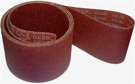 Aluminium oxide resin cloth, poly-cotton heavy backing, X-wt, semi-open coat. - Abrasive cloth belt for wood and iron sanding.
