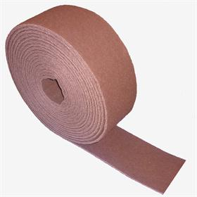 FSAR V.F. aluminium oxide (red). Non-woven sanding product. - Non-woven roll for pre-polishing lacquered surfaces and for metal cleaning.