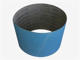 Zirconium resin cloth, polyester backing, Y-wt, close coat. - Abrasive cloth belt for parquet sanding with portable machines. Highly resistant.