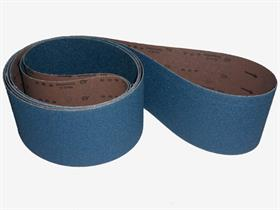 Zirconium resin cloth, polyester heavy backing, Y-wt, close coat. - Abrasive cloth belt for stainless steel and very hard wood sanding .