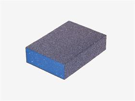 Sanding block, coated on 4 sides. - Blocks can be used for sanding and smoothing wood, metal, paintwork, etc, ideal for profiles and flat surfaces.